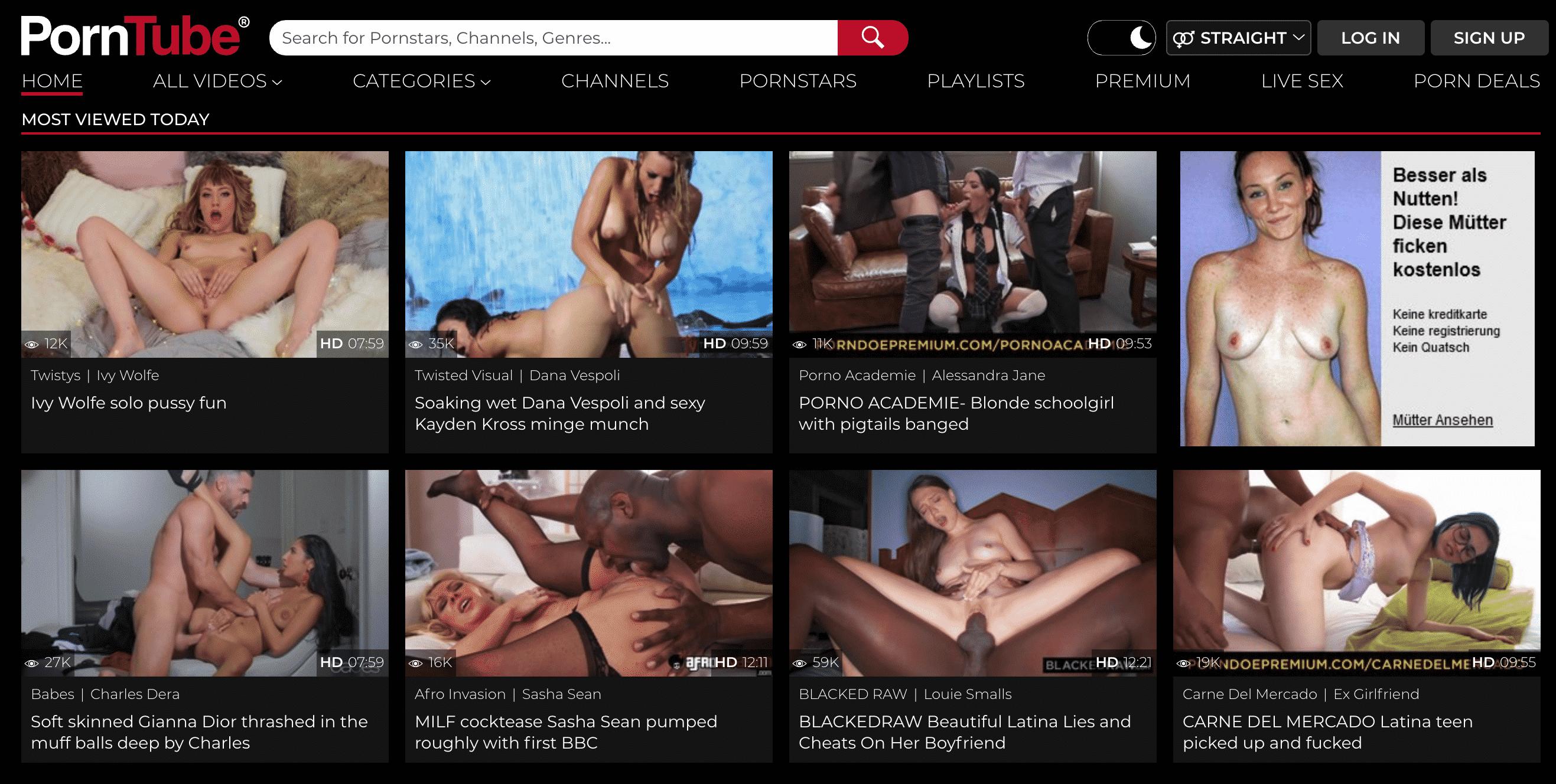 PornTube.com gefällt uns wegen der Einfachheit