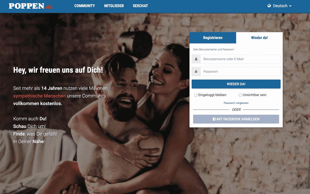poppen.de ist eine riesige Sex-Community mit Kontakten, Chat, Forum und mehr!